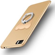 Silikon Schutzhülle Ultra Dünn Tasche Silikon mit Fingerring Ständer für Xiaomi Mi 3 Gold