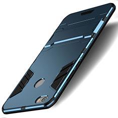 Silikon Schutzhülle und Kunststoff Tasche mit Ständer für Xiaomi Redmi Note 5A High Edition Blau