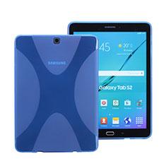 Silikon Schutzhülle X-Line Hülle Durchsichtig Transparent für Samsung Galaxy Tab S2 8.0 SM-T710 SM-T715 Blau