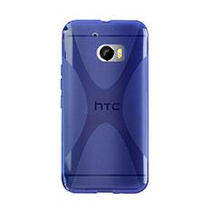 Silikon Schutzhülle X-Line Tasche Durchsichtig Transparent für HTC 10 One M10 Blau