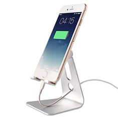 Smartphone Halter Halterung Handy Ständer Universal T08 Silber