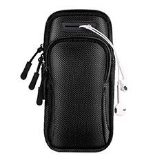 Sport Armband Handytasche Sportarmband Laufen Joggen Universal A01 für Huawei Mate 30 Pro 5G Schwarz
