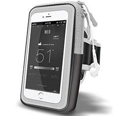 Sport Armband Handytasche Sportarmband Laufen Joggen Universal A02 für Motorola Moto One Zoom Schwarz