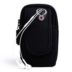 Sport Armband Handytasche Sportarmband Laufen Joggen Universal A04 für Motorola Moto One Zoom Schwarz