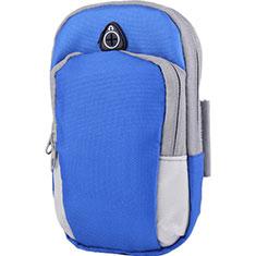 Sport Armband Handytasche Sportarmband Laufen Joggen Universal A11 für Nokia 7.1 Plus Blau