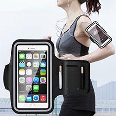 Sport Armband Handytasche Sportarmband Laufen Joggen Universal B02 für Huawei Mate 30 Schwarz