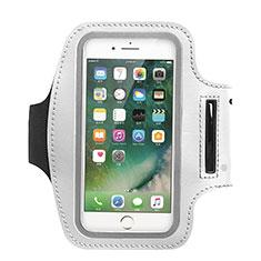 Sport Armband Handytasche Sportarmband Laufen Joggen Universal B02 für Huawei Y5 2018 Weiß