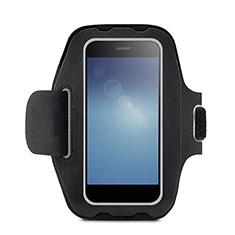 Sport Armband Handytasche Sportarmband Laufen Joggen Universal B08 für Oneplus 7 Pro Schwarz
