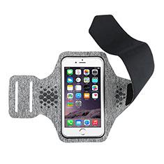 Sport Armband Handytasche Sportarmband Laufen Joggen Universal B12 für Vivo Y12s Grau