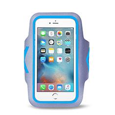 Sport Armband Handytasche Sportarmband Laufen Joggen Universal B15 für Blackberry Z30 Hellblau