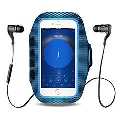 Sport Armband Handytasche Sportarmband Laufen Joggen Universal B17 für HTC Butterfly 2 Blau
