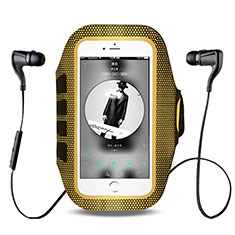 Sport Armband Handytasche Sportarmband Laufen Joggen Universal B17 für HTC Butterfly 2 Gelb