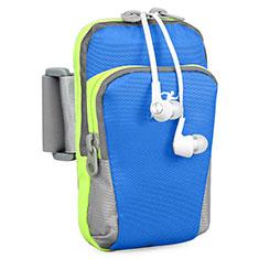 Sport Armband Handytasche Sportarmband Laufen Joggen Universal B22 für HTC Butterfly 2 Blau