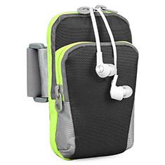 Sport Armband Handytasche Sportarmband Laufen Joggen Universal B22 für HTC Butterfly 2 Schwarz