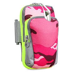 Sport Armband Handytasche Sportarmband Laufen Joggen Universal B23 für HTC Desire 826 826T 826W Pink