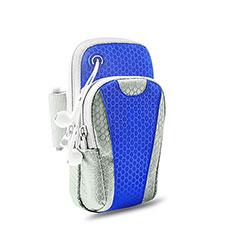 Sport Armband Handytasche Sportarmband Laufen Joggen Universal B32 für Huawei Mate 40 Pro+ Plus Blau