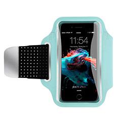 Sport Armband Handytasche Sportarmband Laufen Joggen Universal B35 für HTC Butterfly 2 Blau