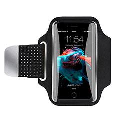 Sport Armband Handytasche Sportarmband Laufen Joggen Universal B35 für HTC Butterfly 2 Schwarz