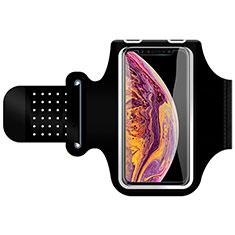 Sport Armband Handytasche Sportarmband Laufen Joggen Universal G01 für Huawei Mate 40 Pro+ Plus Schwarz