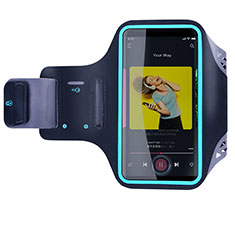 Sport Armband Handytasche Sportarmband Laufen Joggen Universal G03 für Nokia 7.1 Plus Schwarz