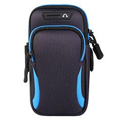 Sport Armband Handytasche Sportarmband Laufen Joggen Universal L01 für Motorola Moto One Zoom Blau