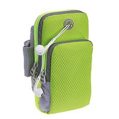 Sport Armband Schutzhülle Laufen Joggen Diamant Universal für HTC Desire 12 Plus Grün