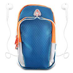 Sport Armband Tasche Sportarmband Laufen Joggen Diamant Universal B01 für Oneplus 7 Pro Blau