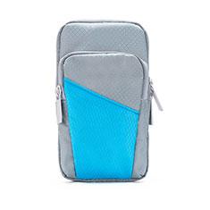 Sport Armband Tasche Sportarmband Laufen Joggen Diamant Universal B09 für Oneplus 7 Pro Grau