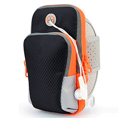 Sport Armband Tasche Sportarmband Laufen Joggen Diamant Universal B18 für Vivo Y12s Schwarz