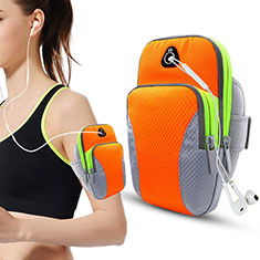 Sport Armband Tasche Sportarmband Laufen Joggen Diamant Universal B21 für HTC 8X Windows Phone Orange
