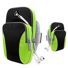 Sport Armband Tasche Sportarmband Laufen Joggen Diamant Universal B21 für HTC Butterfly 2 Schwarz