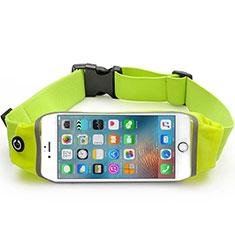 Sport Quertasche Schutz Hülle Laufen Joggen Universal B29 für HTC Butterfly 2 Grün