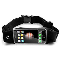 Sport Quertasche Schutz Hülle Laufen Joggen Universal B30 für HTC Butterfly 2 Schwarz