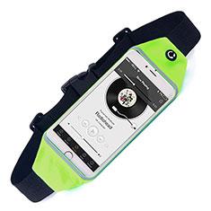 Sport Quertasche Schutz Hülle Laufen Joggen Universal für HTC Butterfly 2 Grün