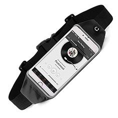 Sport Quertasche Schutz Hülle Laufen Joggen Universal für HTC Butterfly 2 Schwarz