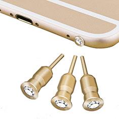 Staubschutz Stöpsel Passend Jack 3.5mm Android Apple Universal D02 für Xiaomi Mi 9 Pro Gold