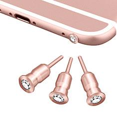 Staubschutz Stöpsel Passend Jack 3.5mm Android Apple Universal D02 für Apple iPad Mini 5 2019 Rosegold