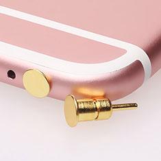 Staubschutz Stöpsel Passend Jack 3.5mm Android Apple Universal D03 für Xiaomi Mi 9 Pro Gold