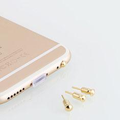 Staubschutz Stöpsel Passend Jack 3.5mm Android Apple Universal D05 für Xiaomi Mi 9 Pro Gold
