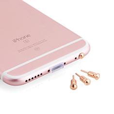 Staubschutz Stöpsel Passend Jack 3.5mm Android Apple Universal D05 für Nokia X3 Rosegold