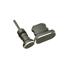 Staubschutz Stöpsel Passend Lightning USB Jack J01 für Apple iPhone 12 Pro Max Schwarz