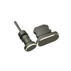 Staubschutz Stöpsel Passend Lightning USB Jack J01 für Apple iPhone X Schwarz
