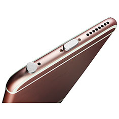 Staubschutz Stöpsel Passend Lightning USB Jack J02 für Apple iPhone 11 Pro Silber