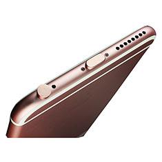 Staubschutz Stöpsel Passend Lightning USB Jack J02 für Apple iPhone 11 Rosegold