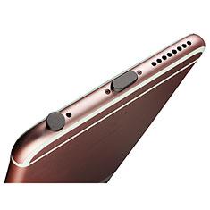 Staubschutz Stöpsel Passend Lightning USB Jack J02 für Apple iPhone SE Schwarz