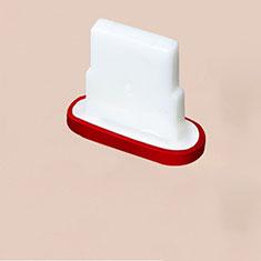 Staubschutz Stöpsel Passend Lightning USB Jack J07 für Apple iPhone 11 Pro Max Rot