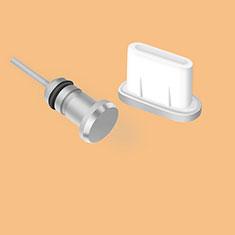 Staubschutz Stöpsel Passend USB Jack Android Type-C Universal für Xiaomi Mi 9 Pro Silber