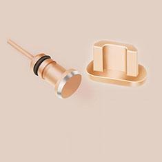 Staubschutz Stöpsel Passend USB Jack Android Universal C02 für Google Pixel 3a Gold