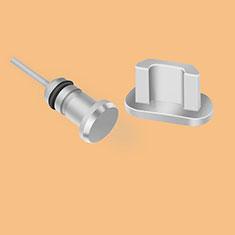 Staubschutz Stöpsel Passend USB Jack Android Universal C02 für Nokia X3 Silber