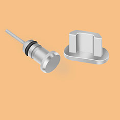 Staubschutz Stöpsel Passend USB Jack Android Universal C02 Silber